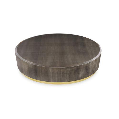 tavolino basso moderno / in legno / tondo / da interno