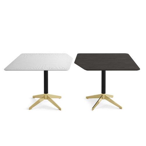 tavolo moderno / in legno laccato / in frassino / in vetro