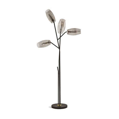 lampada da terra / moderna / in metallo / in vetro soffiato