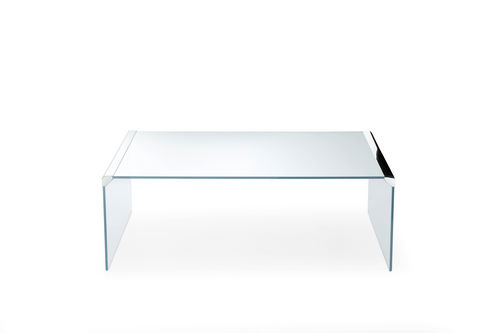 tavolino basso moderno / in vetro / in vetro temprato / in acciaio inossidabile