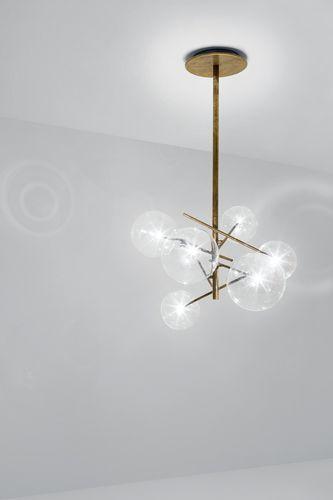 lampadario moderno / in vetro / in vetro soffiato / in ottone