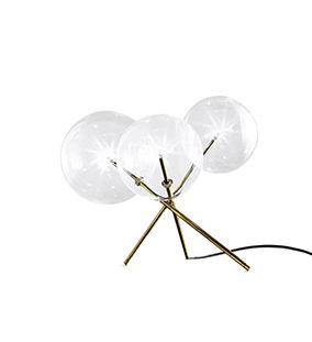 lampada da tavolo / moderna / in vetro / in ottone