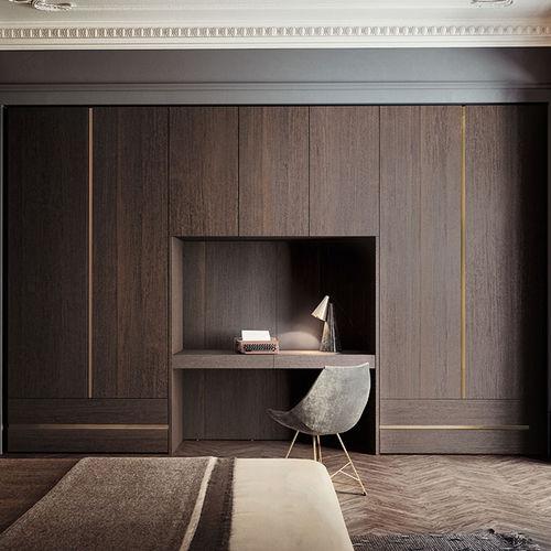 armadio modulare / moderno / in legno laccato brillante / in vetro