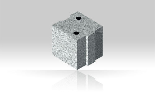 blocco di calcestruzzo pieno / per muro divisorio / tagliafuoco