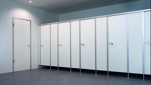 cabina WC per bagno pubblico / in HPL / in vetro