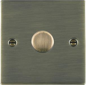 dimmer per illuminazione / a pulsante rotante / in metallo / classico