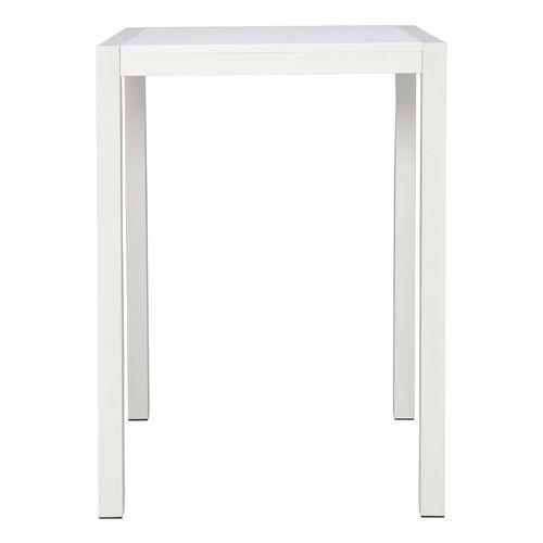 tavolo alto moderno / in polietilene / in alluminio / quadrato