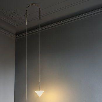 lampada a sospensione / moderna / in nichel / in alluminio anodizzato