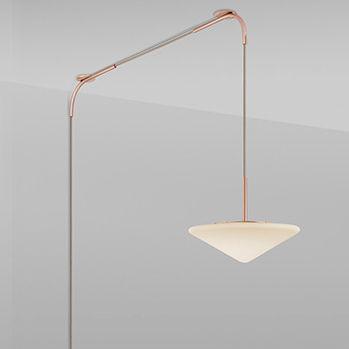 lampada a sospensione / moderna / in ottone lucidato / in rame lucido