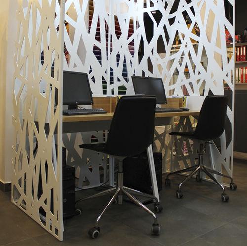 paravento moderno / in metallo / per ufficio / per open space