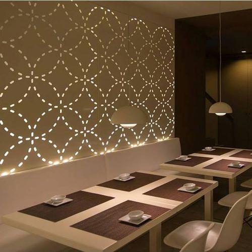 Pannello decorativo in alluminio / per interni / per parete / retroilluminato BPLAN