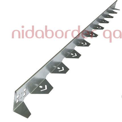 bordura per allestimenti paesaggistici / in acciaio galvanizzato / lineare