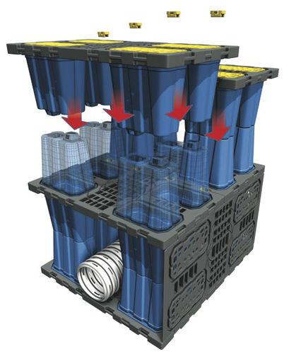 modulo di gestione delle acque piovane per vasca - NIDAPLAST
