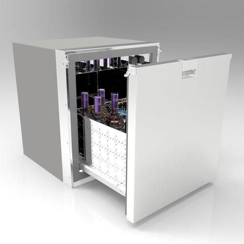 frigorifero a cassetti / in acciaio inox