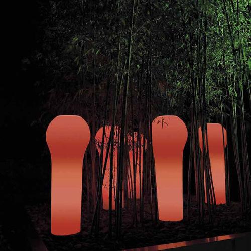 vaso da giardino in plastica / luminoso