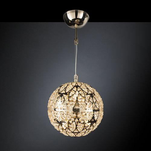 lampada a sospensione / moderna / in acciaio inossidabile / in cristallo