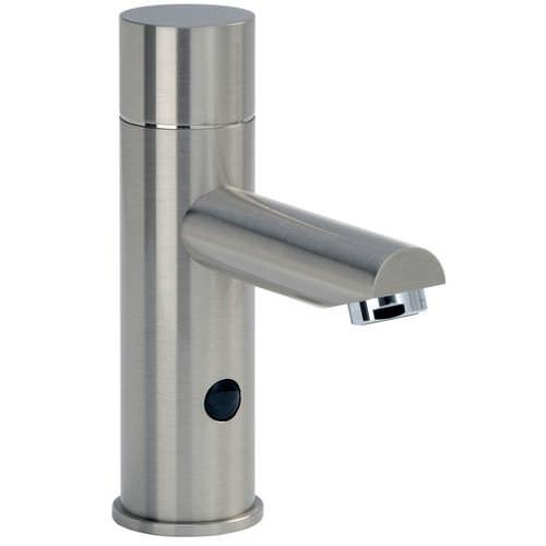 rubinetto per lavabo / da appoggio / in metallo / elettronico