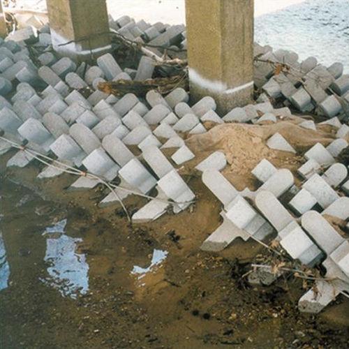 blocco di calcestruzzo pieno / per dighe / per controllo di erosione