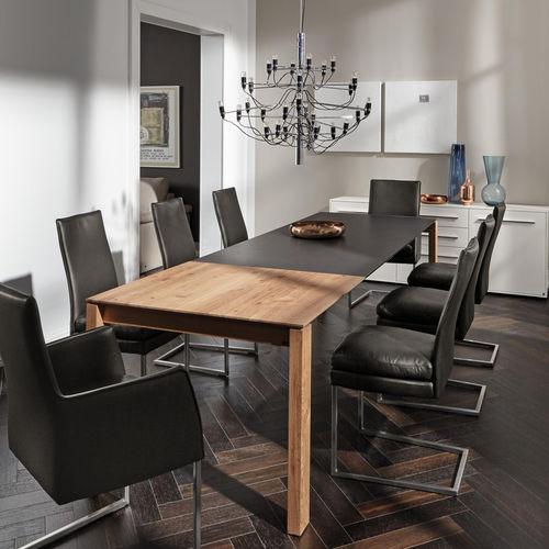 tavolo da pranzo moderno / in legno massiccio / rettangolare