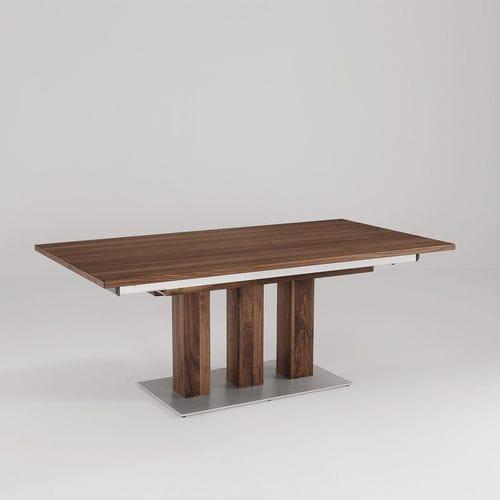 tavolo da pranzo moderno / impiallacciato in legno / in granito / rettangolare