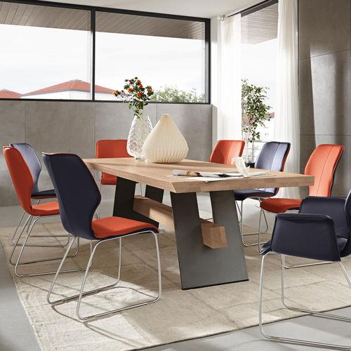 tavolo da pranzo moderno / in legno / rettangolare