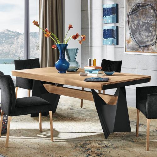 tavolo da pranzo moderno / in quercia / rettangolare