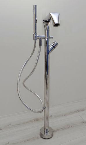 miscelatore per vasca / a pavimento / in metallo / da bagno