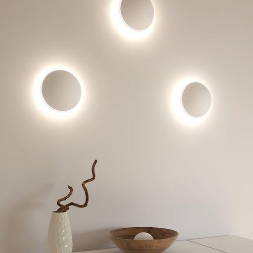 applique moderna / in metallo / in PMMA / LED