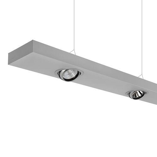 luce a sospensione / LED / lineare / in acciaio