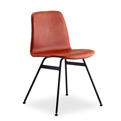 sedia moderna / imbottita / in tessuto / legno