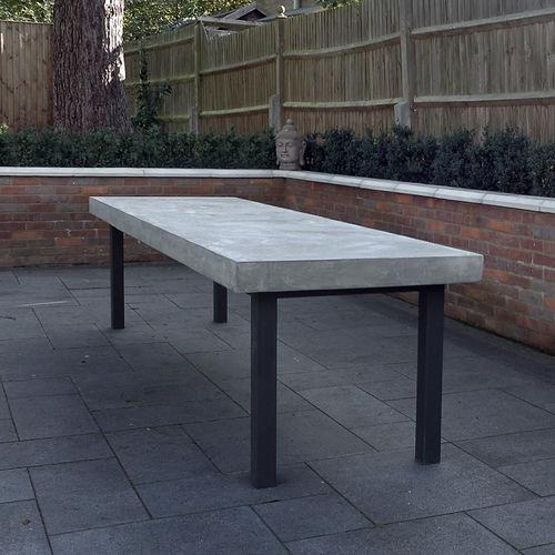 Tavolo da pranzo / moderno / in cemento / in metallo verniciato BASIC.11 LOVECEMENT