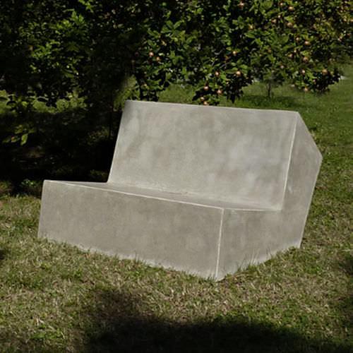 Divano moderno / da esterno / in cemento / professionale CUT.3.60 CUT.3.120 LOVECEMENT