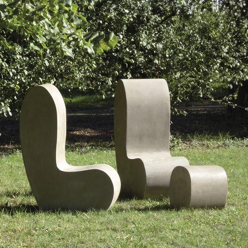 Sedia da giardino moderna / in cemento LAND.3 LOVECEMENT