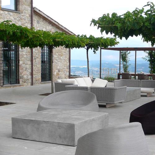 Tavolino basso moderno / in cemento / quadrato / da giardino BASIC.5.40 BASIC5.20 LOVECEMENT