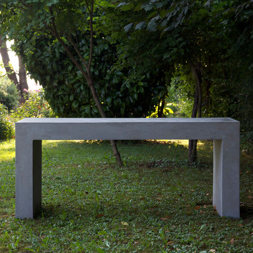 Tavolo moderno / in cemento / rettangolare / da giardino BASIC.8 LOVECEMENT