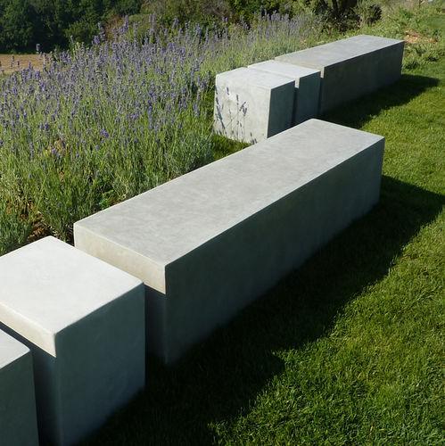Panca da giardino / moderna / in calcestruzzo BASIC.4 LOVECEMENT