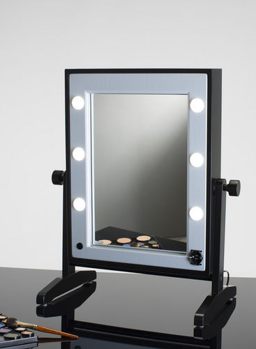 specchio da appoggio / luminoso / moderno / rettangolare