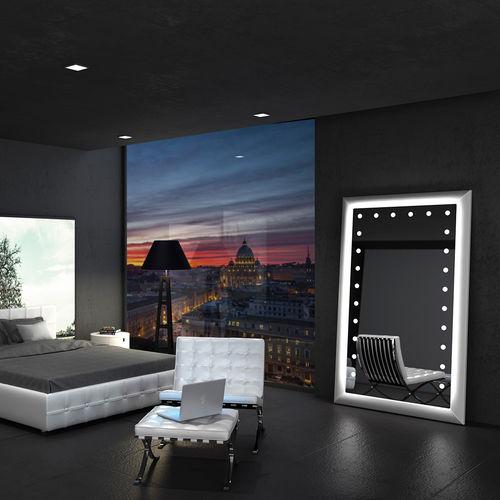 specchio a muro / da terra / luminoso / moderno