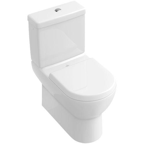 WC da appoggio / monoblocco / in porcellana / con placca di scarico
