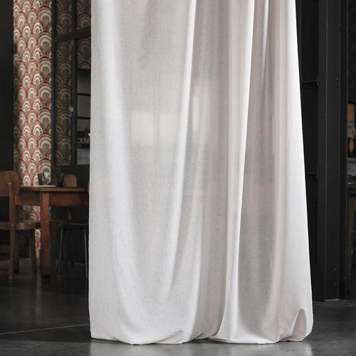 tessuto per tende / a tinta unita / in poliestere / trasparente