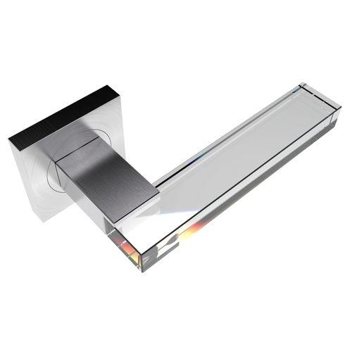 Maniglia per porta a vetri / in cristallo / moderna PACHA SQ SS SATIN GUIDERO Holland BV