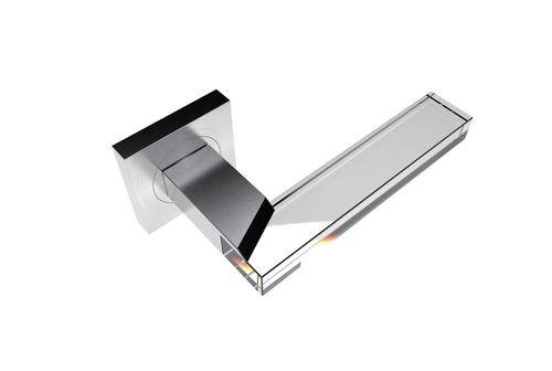 Maniglia per porta a vetri / in cristallo / moderna EDGE R SS SATIN GUIDERO Holland BV