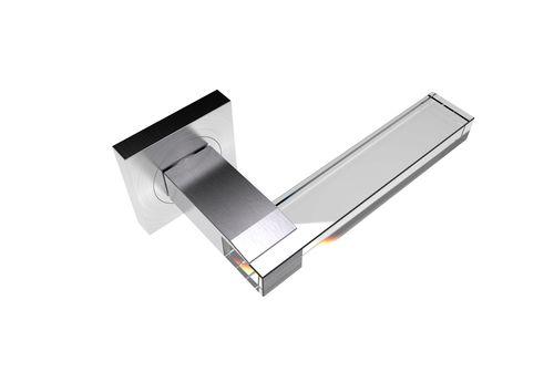 Maniglia per porta a vetri / in cristallo / moderna MARQUEE R SS SATIN GUIDERO Holland BV