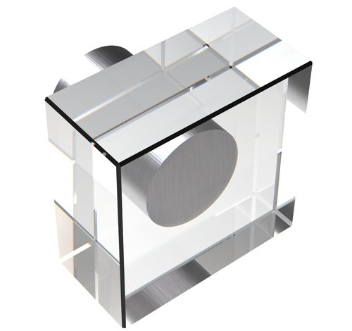 pomello per mobile moderno / in cristallo