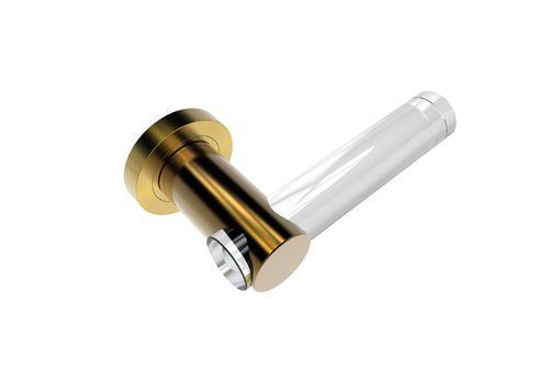 Maniglia per porta a vetri / in cristallo / moderna / finitura oro GOLD SATIN GUIDERO Holland BV