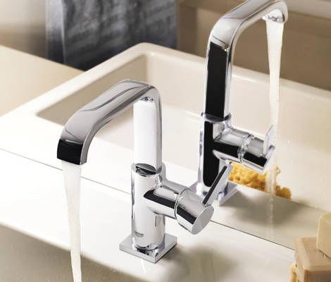 Miscelatore per lavabo / in metallo cromato / da bagno / 1 foro ALLURE: 32146 000 GROHE