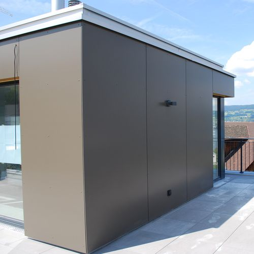 rivestimento di facciata per facciata ventilata / in HPL / liscio / in pannelli