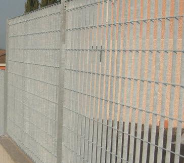 recinzione industriale / in griglia metallica / in acciaio galvanizzato / modulare