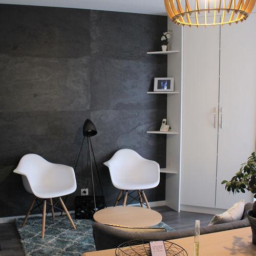 Rivestimento murale in pietra naturale / per uso residenziale / professionale / liscio ARDOISE - LONDRES StoneLeaf
