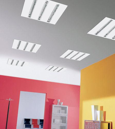 luce a sospensione / ad incasso / LED / quadrata